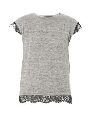 Carmen lace trim top