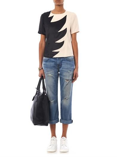 Marc by Marc Jacobs Bi-colour flame blouse