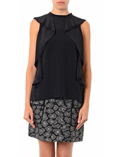 Marc by Marc Jacobs Frances silk ruffle blouse