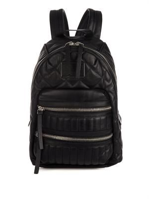 Pack Rat quilted-leather backpack