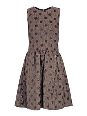 Clara dot jacquard dress