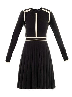 Knitted pleat dress