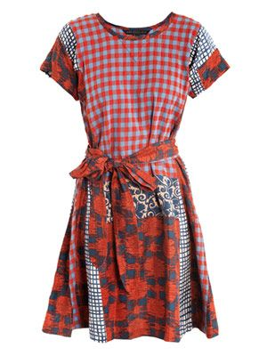Molly patchwork check dress