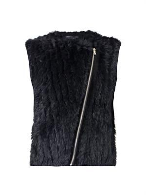 Abbey rabbit fur and wool-blend gilet