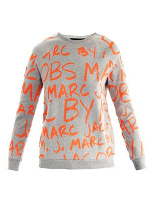 Neon graffiti sweat top