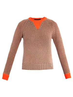 Candace neon-trim sweater