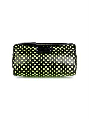 Techno-mesh polka-dot make-up bag
