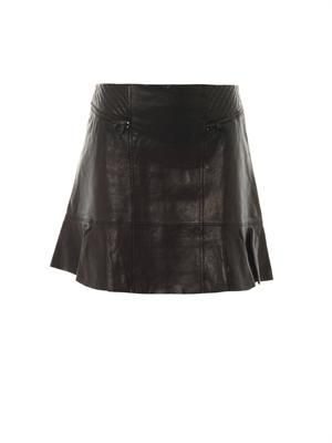 Karlie leather skirt