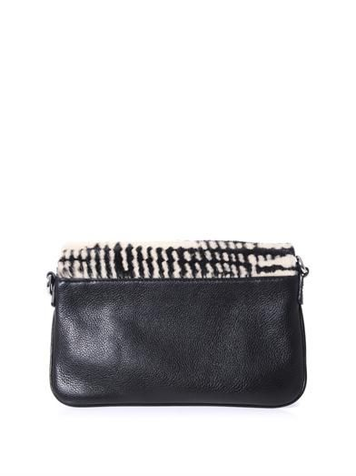 Marc by Marc Jacobs Blurred ponyskin and leather cross-body bag