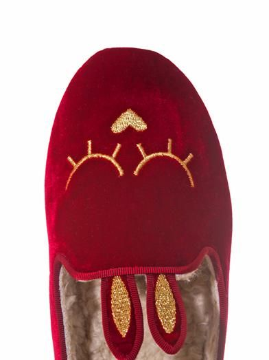 Marc by Marc Jacobs Shearling-lined bunny slippers