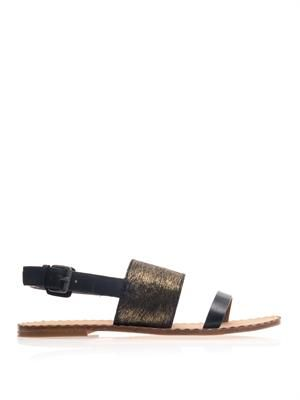 Caprice double strap sandals