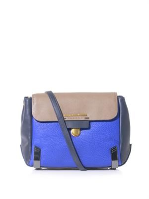 Sheltered island colour-block satchel