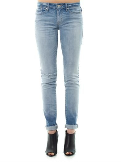 Marc by Marc Jacobs Distressed mid-rise skinny jeans