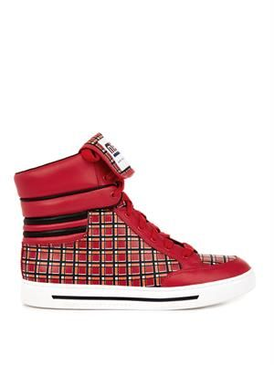 Cute Kicks leather high-top trainers