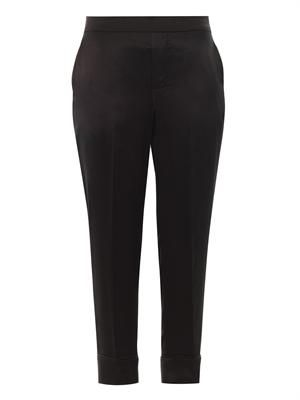 Julee silk tailored trousers