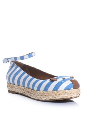 Stripe canvas mouse espadrille