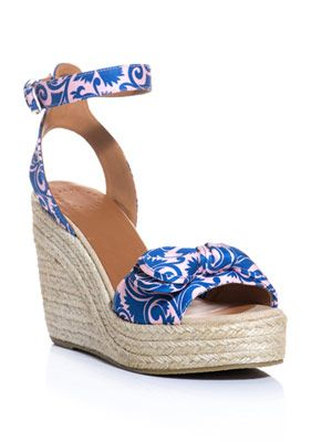 Pretty knot espadrille wedge shoes