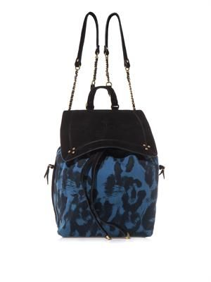 Florent animal-print backpack