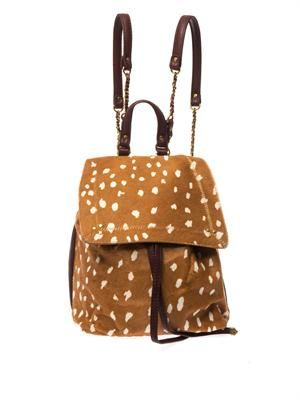 Florent Bambi-print calf-hair backpack