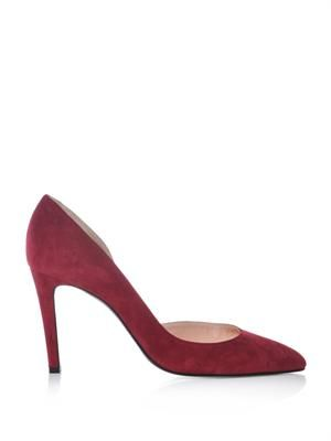Pinpin suede court shoes