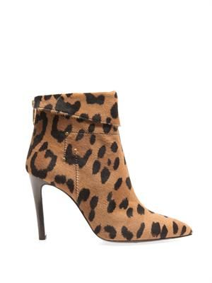 Suzanne calf-hair ankle boots