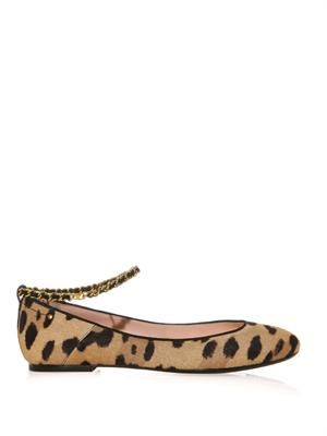 Aurelie calf-hair pumps