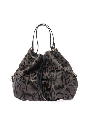 Alain leopard-print calf-hair bag