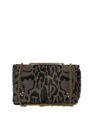 Martin leopard calf-hair shoulder bag