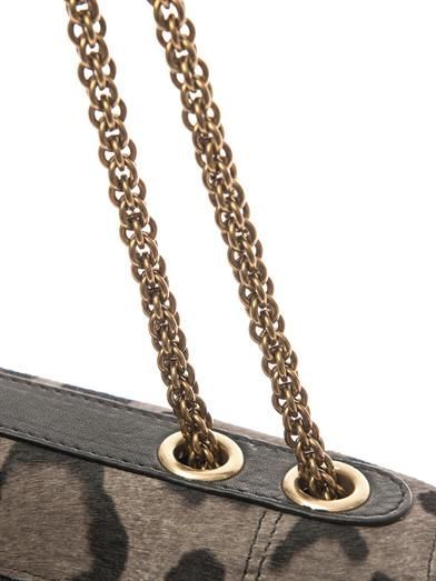 Jérôme Dreyfuss Martin leopard calf-hair shoulder bag