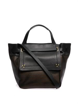 Vladimir perforated-leather tote