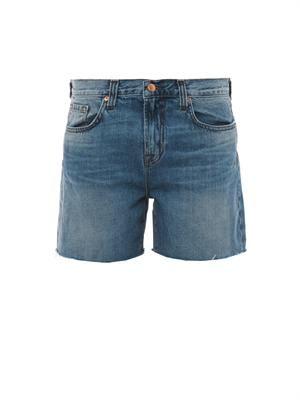 Drew cut-off denim shorts