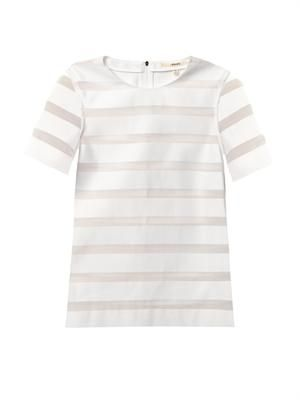 Earheart sheer-stripe top