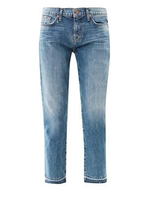 Aiden high-rise cropped boyfriend jeans