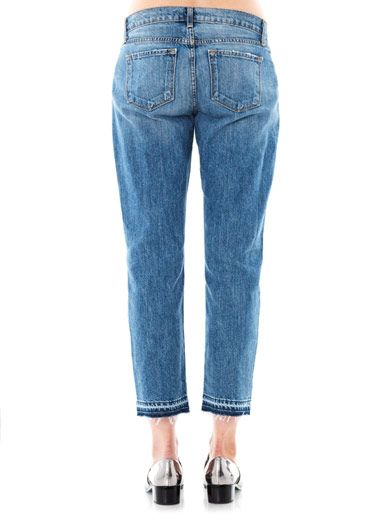 J Brand Aiden high-rise cropped boyfriend jeans