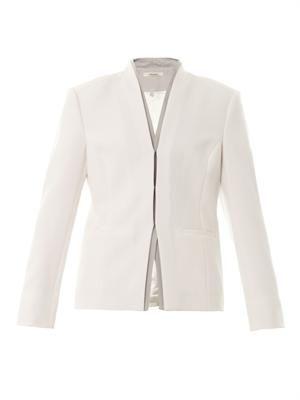 Hale contrast-lapel blazer