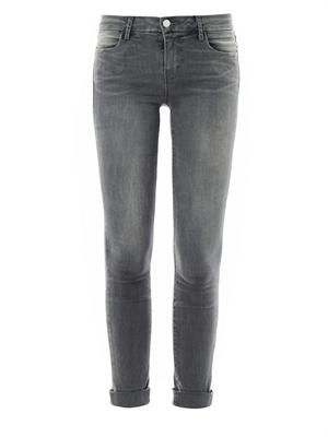 Anja Photo-Ready mid-rise cropped skinny jeans