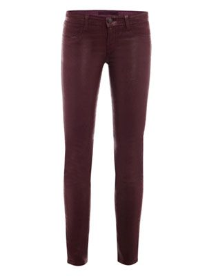 811 coated low-rise skinny jeans