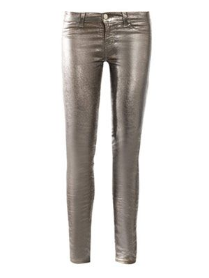 901 Metallic low-rise skinny jeans