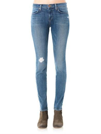 J Brand 620 Revenge mid-rise skinny jeans