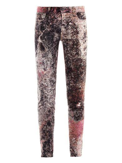 J Brand 621 Supernova-print skinny jeans