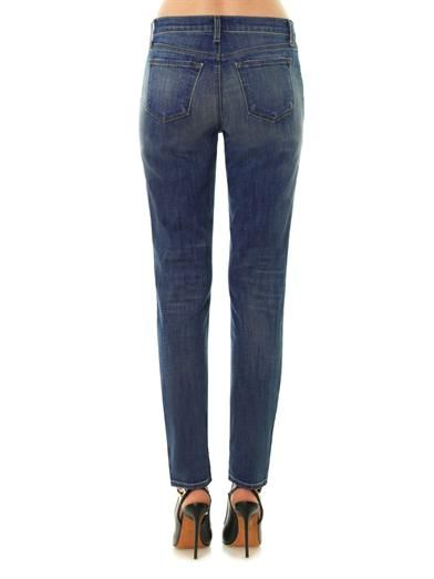 J Brand 1207 Allyn mid-rise skinny slouch jeans