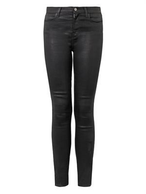 Maria coated high-rise skinny jeans