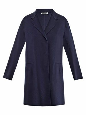 Serge stretch-wool coat