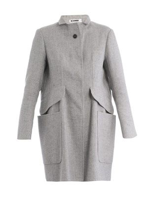 News canvas cashmere coat