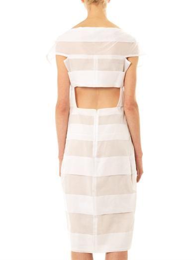 Jil Sander Sheer-stripe cotton dress