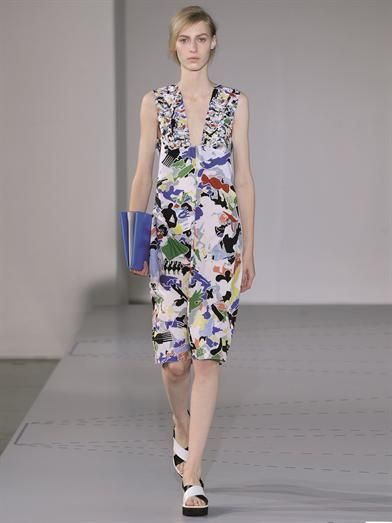 Jil Sander Fractured-print cotton dress