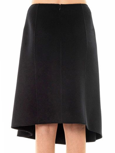 Jil Sander Needle-punch stripe wool skirt
