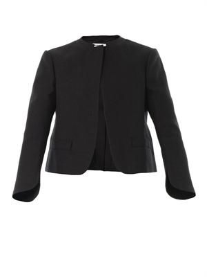 Ricci macro-canvas cropped jacket
