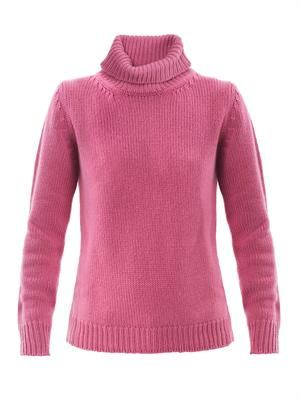 Cashmere high-neck sweater