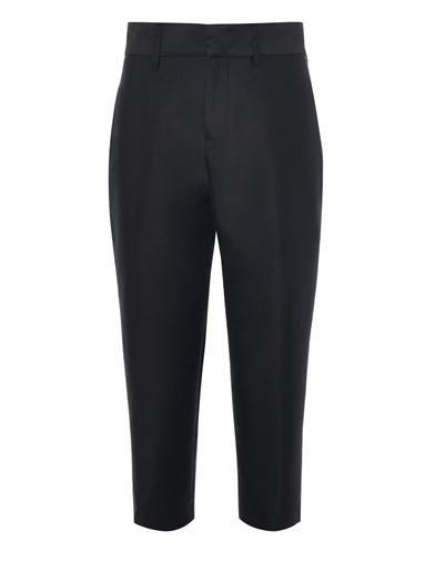 Jil Sander Rasmus tencho-wool cropped trousers